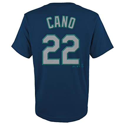 Robinson Cano Seattle Mariners Navy Youth Jersey Name and Number T-shirt