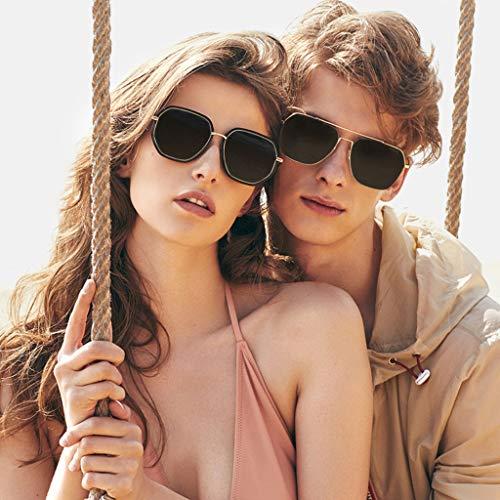 Zhyxj Niñas Para Parejas sunglasses Marco B Regalos De Sol Gafas Ropa Accesorios Metal Unisex Polarizadas Uv Protección qqRZrU