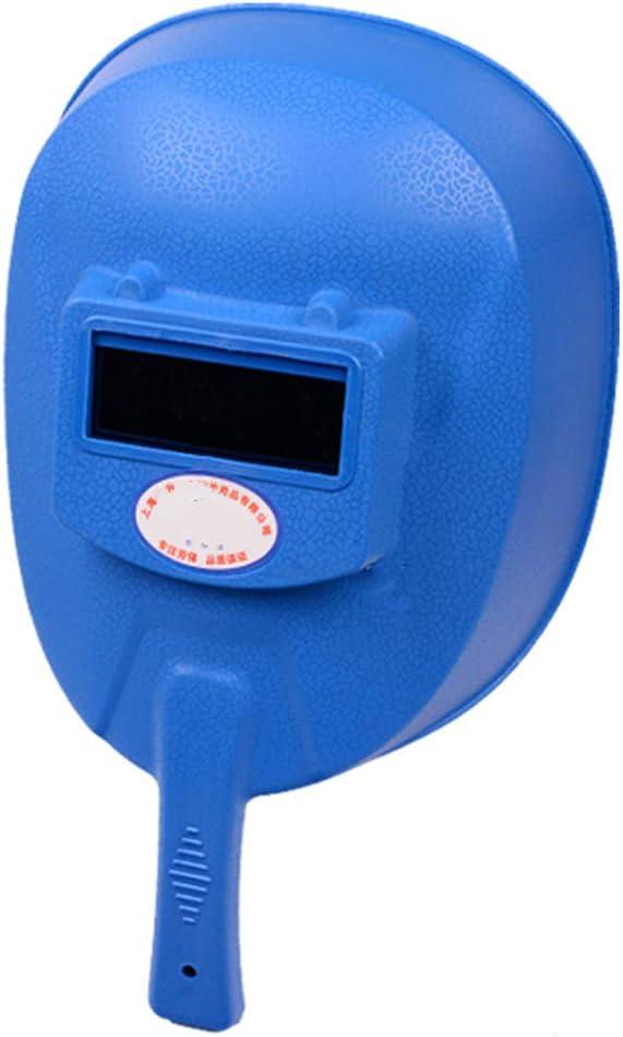 GFYWZ Blindaje de Soldadura de Mano, máscara soldadora, Protector Facial Impermeable, máscara de Pulido Resistente al Calor,Blue