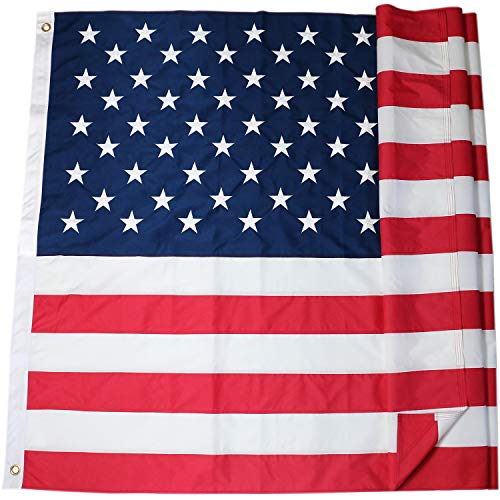 (DLORY American Flag:American Deluxe Long Lasting 6X10 FT Outdoor US Flag - Embroidered Stars and Sewn Stripes (6 by 10 Foot))