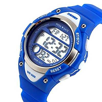 USWAT-Children-Watch-Outdoor-Sports-Kids-Boy-Girls-LED-Digital-Alarm-Waterproof-Wristwatches-Dress-Watches-Blue