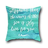 Robert Beautifulstandard Pillowcases Craft Christian Bible Verse Throw Pillow Cover Decorative Cotton For Sofa Home Decor Cushion Cover, 20*30