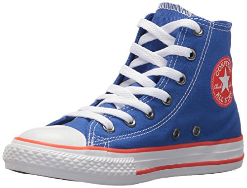 Converse Chuck Taylor All Star Seasonal Canvas High Top Sneaker Hyper Royal/Bright Poppy/White 2 M US Little Kid ()