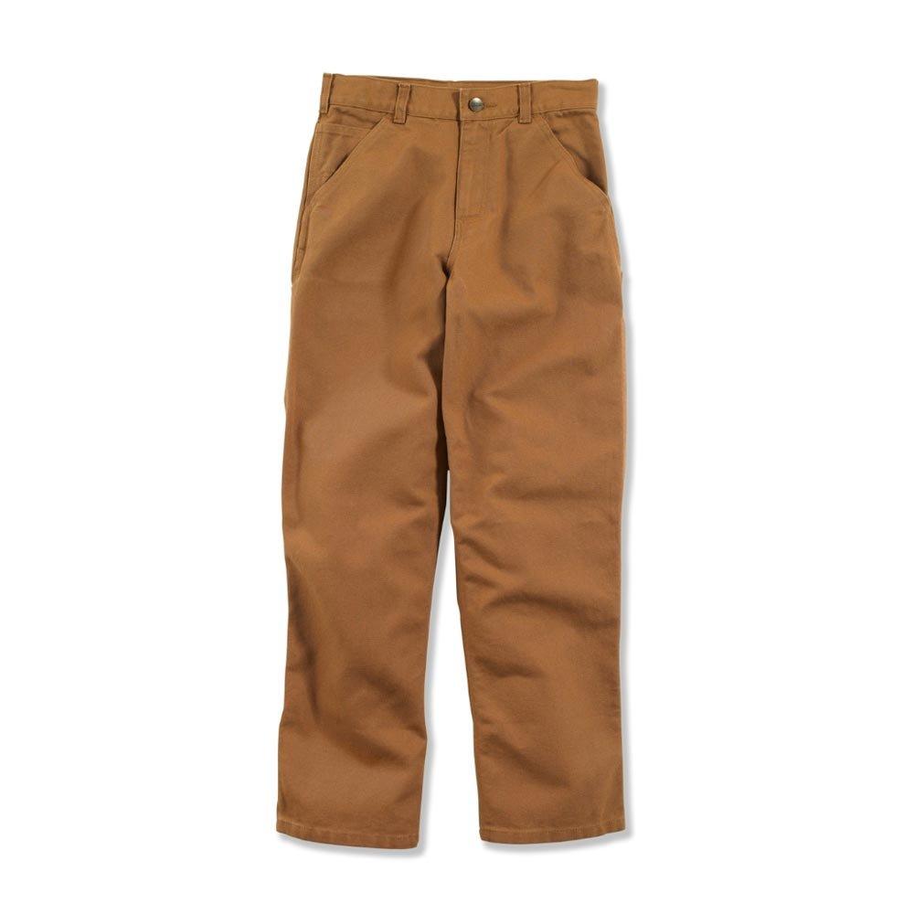 Carhartt Big Boys' Adjustable Waist Dungaree Pant, Carhartt Brown, 8