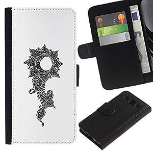 LASTONE PHONE CASE / Lujo Billetera de Cuero Caso del tirón Titular de la tarjeta Flip Carcasa Funda para Samsung Galaxy S3 III I9300 / grow up