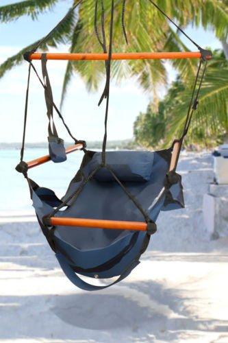 Hammock Hanging Chair Air Deluxe Sky Porch Swing Indoor/o...
