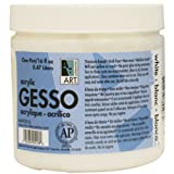 Art Alternatives AA90016 16 Oz Gesso Primer, WHITE