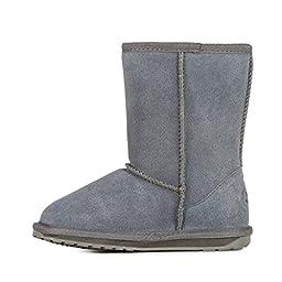 EMU Australia Wallaby Classic Lo Boot (Toddler/Little Kid/Big Kid),Charcoal,12 M US Little Kid
