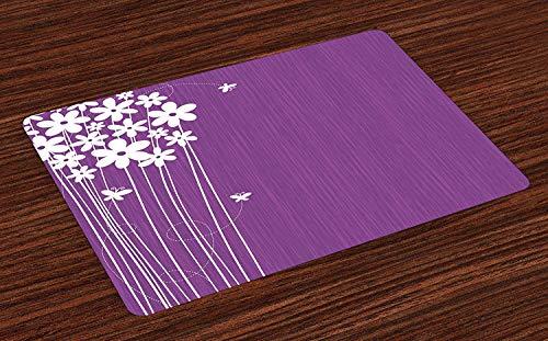 Floral Non-Slip Doormats Welcome Mat Accent Area Rug, Flower Petals Botany Garden Lilac Florets Nature Fragrance Artistic Nature Image, Indoor Bathroom Mat Shoes Scraper Floor Cover Mat, 18''x30''