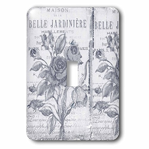 - 3dRose lsp_79075_1 Vintage Belle Jardiniere Botanical- French Art Light Switch Cover