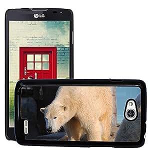Super Stella Slim PC Hard Case Cover Skin Armor Shell Protection // M00105537 Polar Bear Animal Predator White Fur // LG Optimus L90 D415