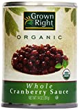 Grown Right Organic Whole Cranberry Sauce, 14 oz
