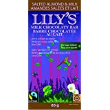 Lily's Sweets 40% Chocolaty Bar Salted Almond & Milk, 85g