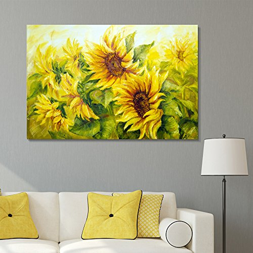 Sunflowers in Oil Painting Style Wall Decor