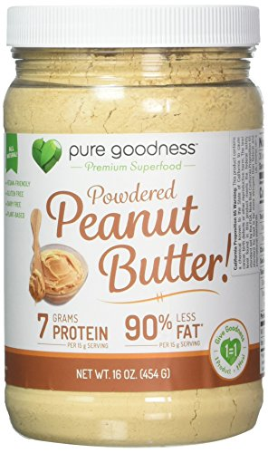 Pure Goodness Powdered Peanut Butter with 90% Less Fat, Dairy Free, 454 Gram Review