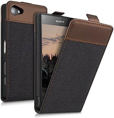 Amazon.com: kwmobile Vertical Flip Case for Sony Xperia Z5 ...