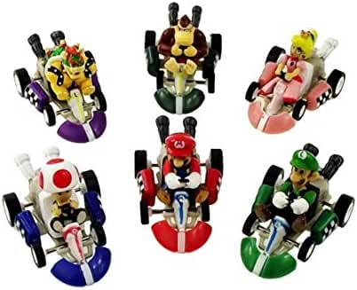 Oliasports Mario Kart Cars Pull Backs Figure Set