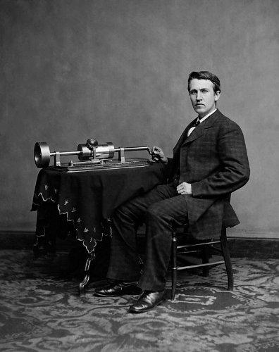 Thomas Edison Phonograph Photo USA Historical Photos -