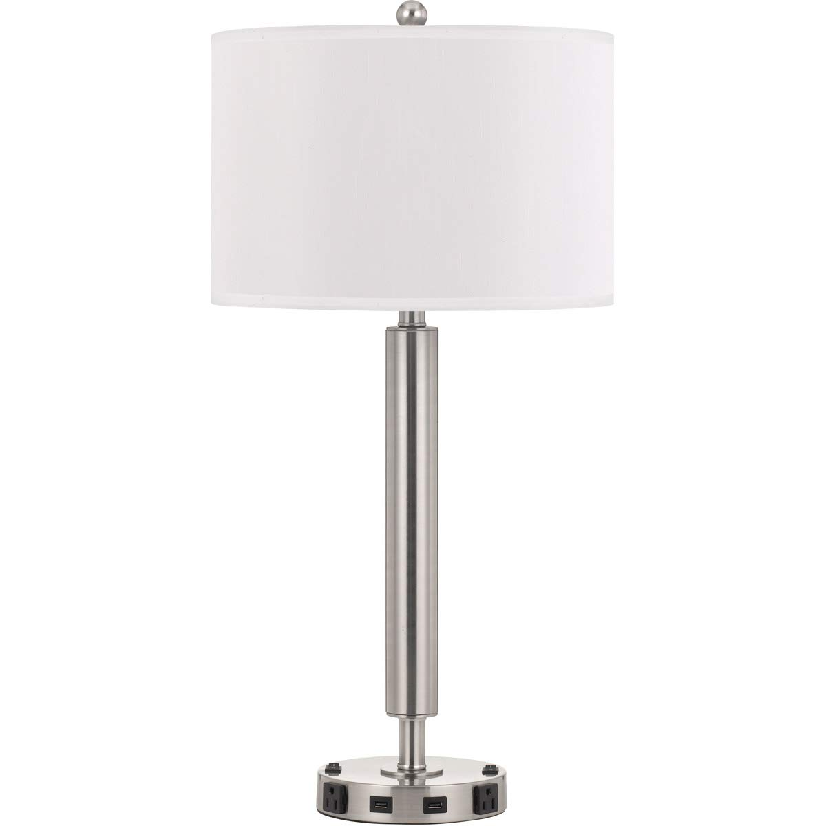 Table lamps 2 light fixtures with brushed steel finish metal material e26 bulb 15 120 watts amazon com