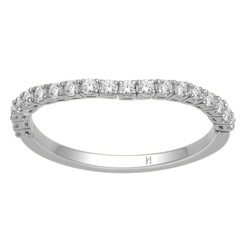 bendable wedding band anniversary ring 1 4cttw 10k