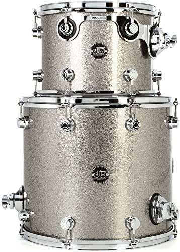 DW Performance Series 2-Piece Tom Pack - Titanium Sparkle Finish - Sparkle Titanium