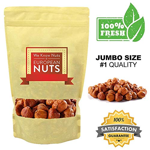 European Nuts Premium Raw Hazelnuts (Filberts) in Resealable Bag (1 LB) by European Nuts - We Know Nuts