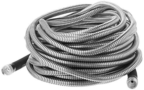 Bionic Steel 75 Foot Garden Hose 304 Stainless Steel Metal Water Hose – Super Tough & Flexible, Lightweight, Crush Resistant Aluminum Fittings, Kink & Tangle Free, Rust Proof, Easy to Use & Store