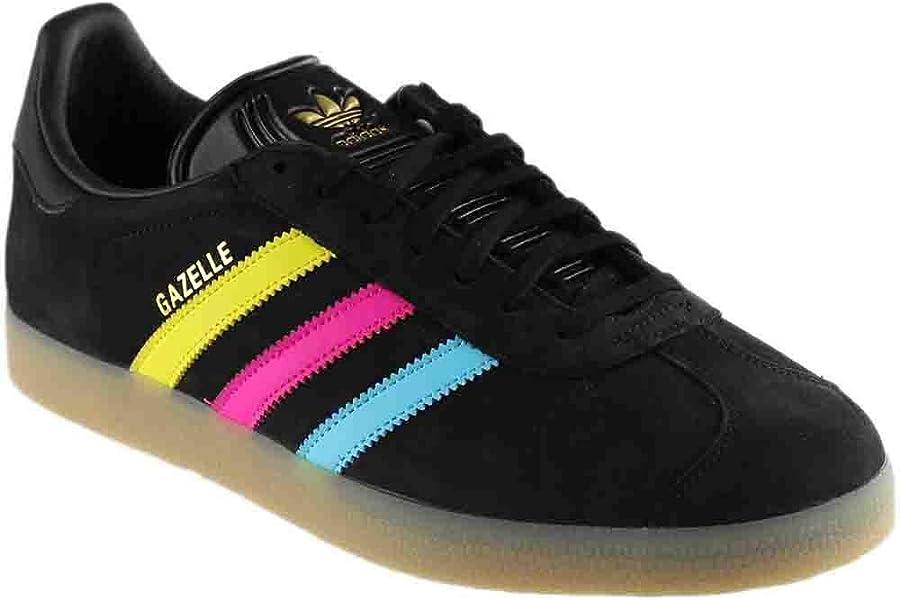 timeless design 7748c 18156 Amazon.com   adidas Gazelle Black Multicolor   Fashion Sneakers