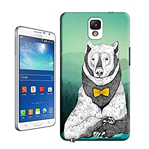 lincase stone bear with a necktie durable Tpu material hard case cover for Samsung Galaxy Note3