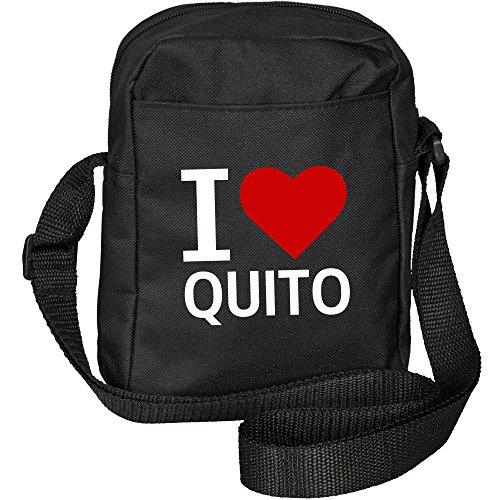 Umhängetasche Classic I Love Quito schwarz