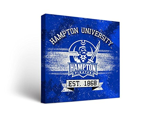 (Victory Tailgate Hampton University Pirates Canvas Wall Art Banner Version (12x12))