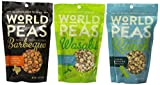 World Peas All Natural Green Pea Snack 3 Flavor Variety Bundle