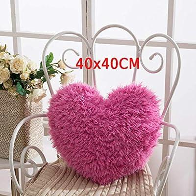 Cojín de felpa suave en forma de corazón para silla, cojín ...