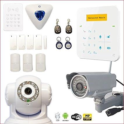 Alarma Casa inalámbrico A9 GSM con sirena desplazamiento + ...