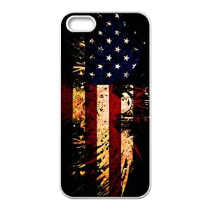 Happy American Flag USA Bald Eagle Cell Phone Case for Iphone 5s