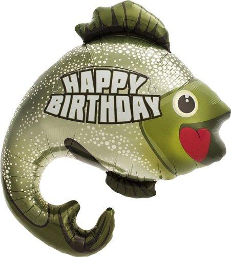 Birthday Bass Helium Foil Balloon - 32 (Giant Fish Costume)