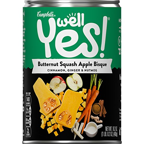 Campbell's Well Yes! Butternut Squash Apple Bisque, 16.2 Ounce, Pack of 1