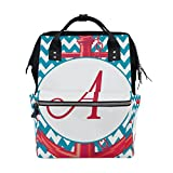 ALIREA Chevron Anchor Diaper Bag Backpack, Large Capacity Muti-Function Travel Backpack