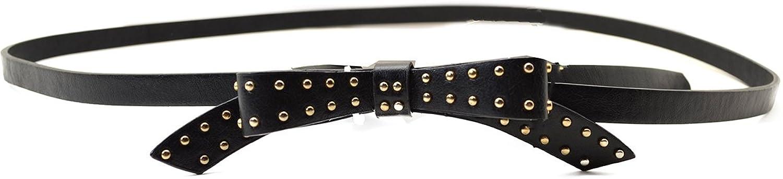 """Style & Co Women's Skinny 1/2"""" Belt Bow Black"""