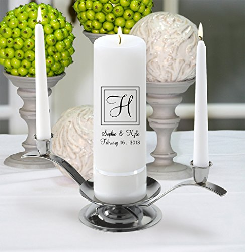Personalized Wedding Unity Candle - Personalized Unity Candle Set - Elegant by A Gift Personalized