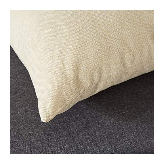 Top Finel Decorative Outdoor Throw Pillow Covers Set - Square Cotton Linen Cushion Covers 18 X 18 Inch for Sofa Couch, Set of 6, Series - SUPER PLUSH MATERIAL & SIZE: Made of high quality cotton linen, comfortable to touch and lay on. 18 X 18 Inch per pack, included 6 packs per set, NO PILLOW INSERTS. WORKMANSHIP: Delicate hidden zipper closure was designed to meet an elegant look. Tight zigzag over-lock stitches to avoid fraying and ripping. NO PECULIAR SMELL: Because of using environmental and high quality cotton linen fabric,our throw pillow cases are the perfect choice for those suffering from asthma, allergen, and other respiratory issues. - patio, outdoor-throw-pillows, outdoor-decor - 51OUvsIwi6L. SS570  -