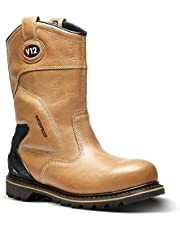 V12 Tomahawk, vintage läder vattentät säkerhetsrigger, storlek 11, ljusbrun/brun