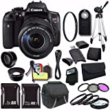 Canon EOS Rebel T6i DSLR Camera with EF-S 18-135mm f/3.5-5.6 is STM Lens 0591C005 + 16GB SDHC Card + 8GB SDHC Card + UV Filter + Case + Tripod + Saver Bundle For Sale
