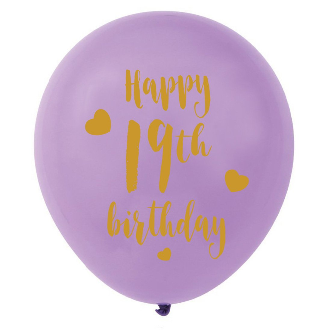 Amazon Purple 19th Birthday Latex Balloons 12inch 16pcs Girl Gold Happy Party Decorations Supplies Toys Games