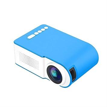 Opinión sobre Mini proyector de 7000 lúmenes Proyector portátil Full HD 3D TFT LED LCD Proyectores de Entretenimiento para Cine en casa Video Multimedia Azul
