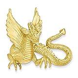 14k Yellow Gold Dragon Slide
