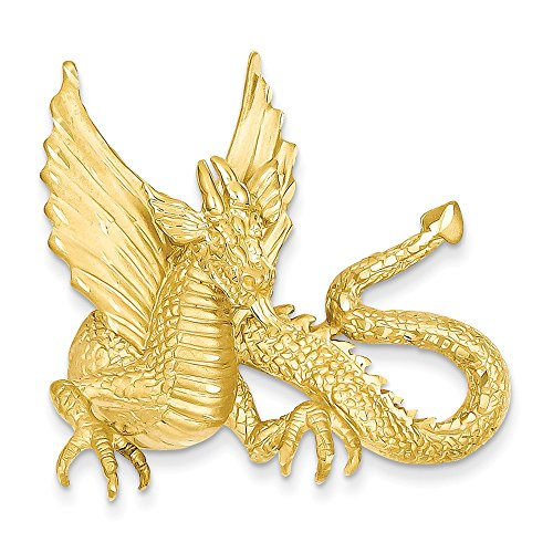 14k Yellow Gold Dragon Slide by Jewelry Pot