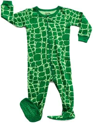 DinoDee Baby Boys Girls Footed Pajamas Sleeper 100% Cotton Kids Pjs (6  Months- e0812d375