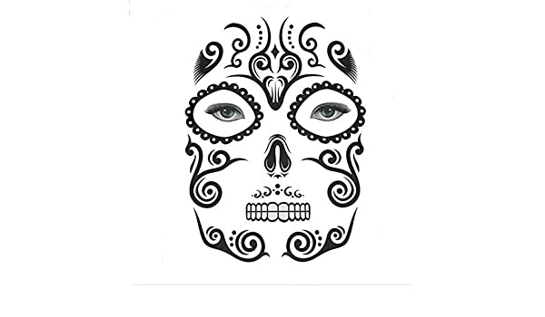 FANGQI - Adhesivo para Tatuaje, diseño con Texto en inglés Undead ...