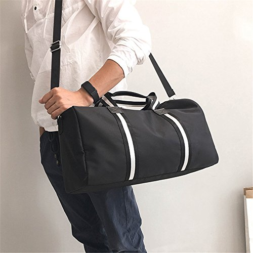 Women Men Shoulder Carry Canvas Canvas Fitness Large Gym Bags Single On Business Simple Overnight Bag Sports For Holdall Capacity Travel Lightweight And Exercise Jxth Luggage qCBwOSq